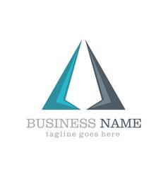 business triangle company logo vector image