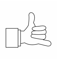 Call me gesture icon outline style vector