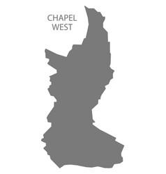 chapel west grey ward map high peak district vector image