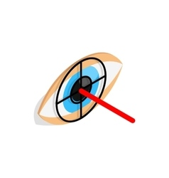 Check pupil of eye icon isometric 3d style vector image