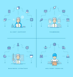 client support teamwork business strategy vector image