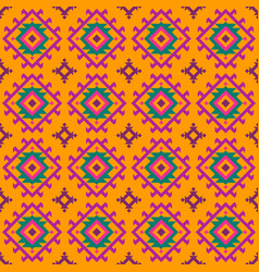 colored pattern with geometric elements in ethnic vector image