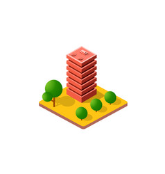 Colorful 3d isometric city vector
