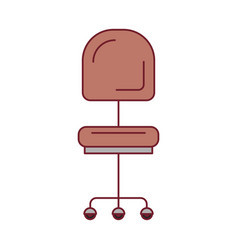 Colorful graphic of office chair front view with vector