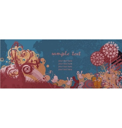 colorful grunge floral background vector image