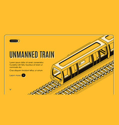 concept banner with unmanned electric train vector image