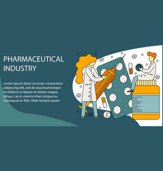 concept of pharmaceutical vector image
