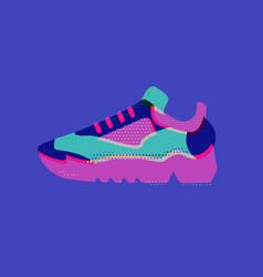 Cool sneaker sport fitness running healthy vector