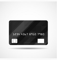 Credit card icon with abstract geometric design vector