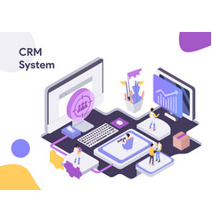 customer relationship management isometric vector image