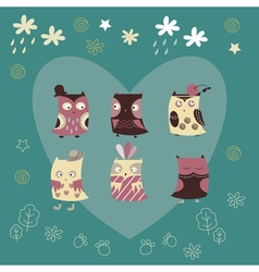 cute owl background vector image