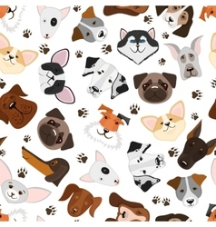 Cute puppy and dog mixed breed seamless pattern vector image