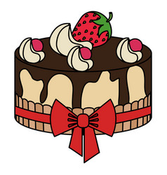 delicious cake bakery icon vector image