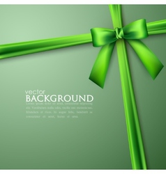 Elegant background with green bow vector