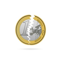 euro crack color vector image