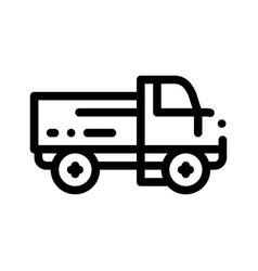 farmland delivery truck thin line icon vector image