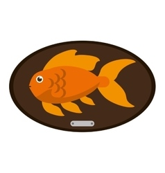 Fish animal cartoon over table design vector