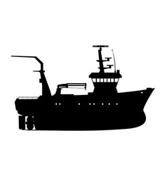 Fishing trawler vector