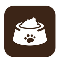 Flat color dog food icon vector
