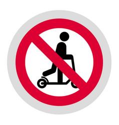 Forbidden sign modern round sticker vector