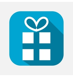 Gift box with a bow icon vector image
