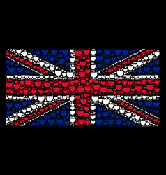 great britain flag pattern of alcohol glass items vector image