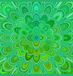 green abstract digital flower mandala art vector image