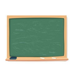 Green blackboard chalk and eraser school vector