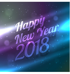 Happy new year 2018 backgorund with colorful vector