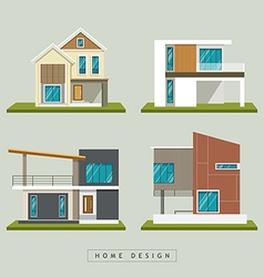 Home exterior design collections vector image