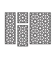 Islamic arabic cnc laser pattern decorative panel vector