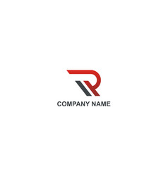 letter r alphabet company logo vector image