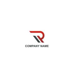 Letter r alphabet company logo vector