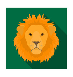 lion icon in flat style isolated on white vector image