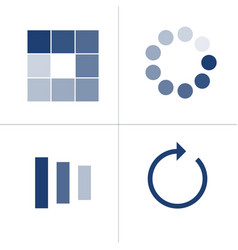 Loading icon set with different shapes square vector