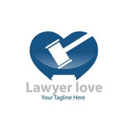 love justice logo designs vector image