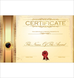 Luxury certificate template vector