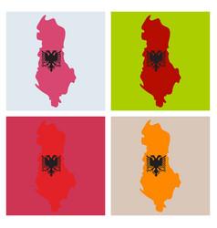 Map of albania vector