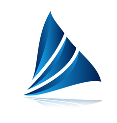 Modern sail logo vector
