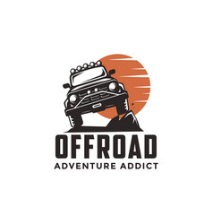 off road adventure suv car logo icon template vector image