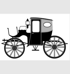Old style carriage vector