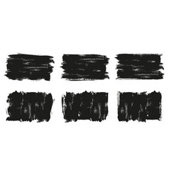 painted grunge banner set black labels vector image