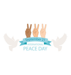 peace day poster vector image