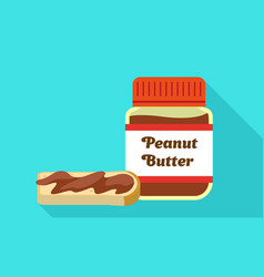 Peanut butter jar icon flat style vector