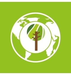 Planet earth ecology icon vector