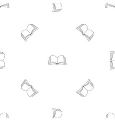 Publication in book pattern seamless vector