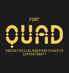 quad font alphabet vector image