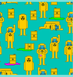 Radiation pattern toxic barrel yellow suit vector