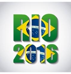 rio 2016 design vector image
