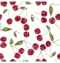 seamless cherry texture pattern vector image